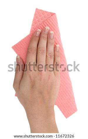Cleaning the Table - stock photo