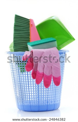 cleaning tools - stock photo