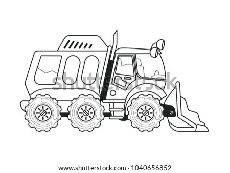 Cleaning Truck Coloring Book Stock Illustration 1040656852 ...