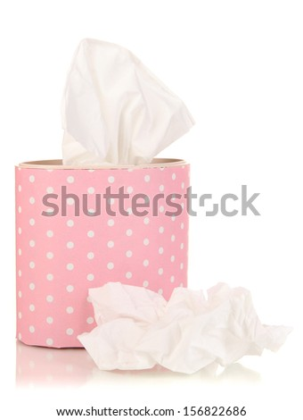 Cleaning wipes isolated on white - stock photo