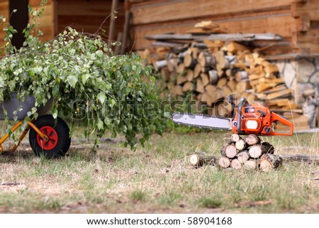 cleanup in the garden - stock photo