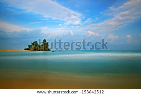 Clear - A scenery of a beach in Terengganu, Malaysia - stock photo