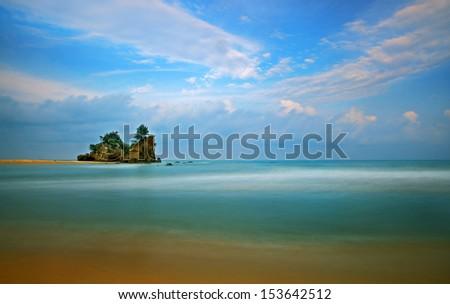 Clear - A scenery of a beach in Terengganu, Malaysia - stock photo