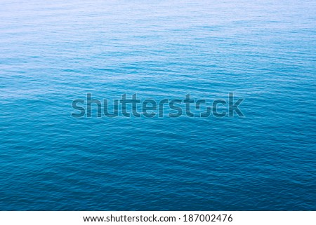 Clear blue sea  - stock photo