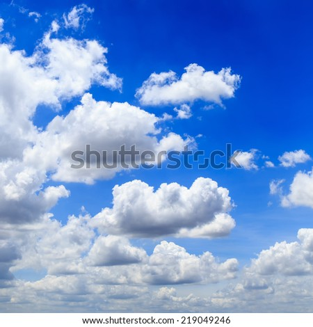 Clear Blue Sky and sunlight white cloud