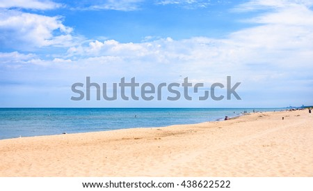 Clear blue sky With cloud and sea at Indiana Dunes State Park?