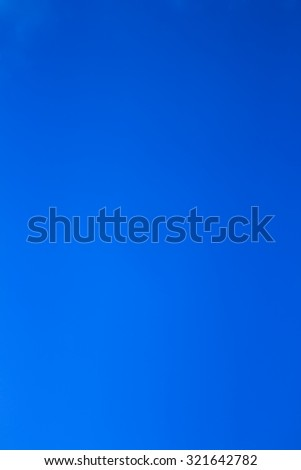 Clear blue sky with no cloud - stock photo