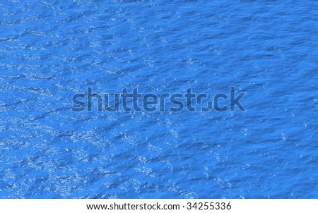 Clear Blue Water - stock photo