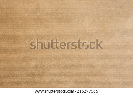clear brown striped kraft paper texture or background  - stock photo