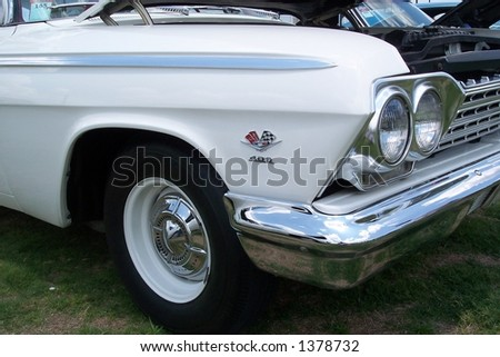 Clear classic car front fender