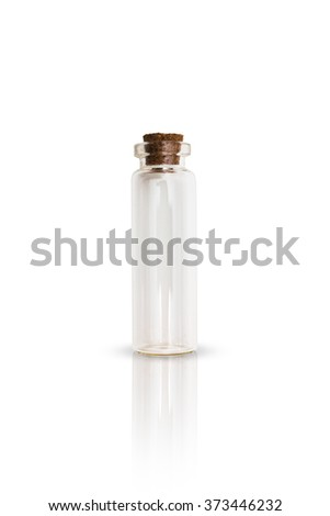 Clear empry scientific research specimen vial isolated - stock photo