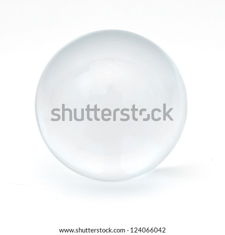 Clear glass ball - stock photo