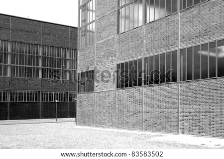 clear industrial architecture - stock photo