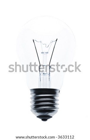 clear light bulb against white background - stock photo