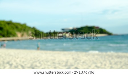 Clear sea and tropical beach on island, at koh lan island Pattaya city Chonburi Thailand. - stock photo