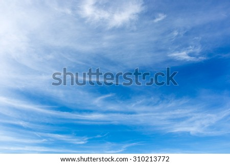Clear sky and cloud background.