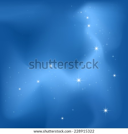 clear sky night with a lot of bright stars - stock photo