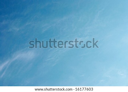 Clear sky. Silence and beauty of nature... - stock photo