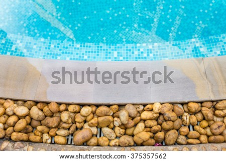 clear water in the swimming pool blue bright - stock photo