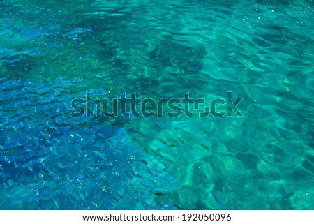 clear water ocean - stock photo