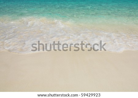 Clear wave  and white sand in Similan National Park The paradise and popular beach. South of Thailand. - stock photo