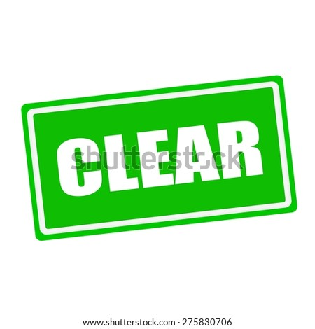 Clear white stamp text on green background - stock photo