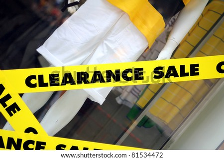 Clearance Sale sign on shop.