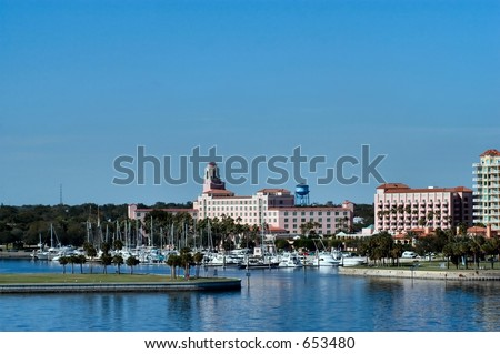 Clearwater boat harbor - stock photo