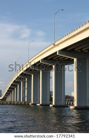 clearwater bridge, florida - stock photo