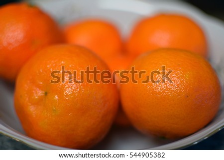 Clementines. Focus on foreground.