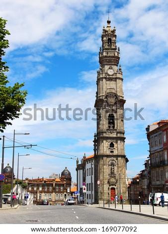 Clerigos church tower, Porto, Portugal - stock photo