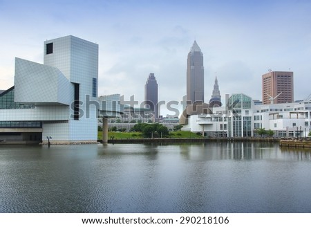 Cleveland, Ohio in the United States. City skyline. - stock photo