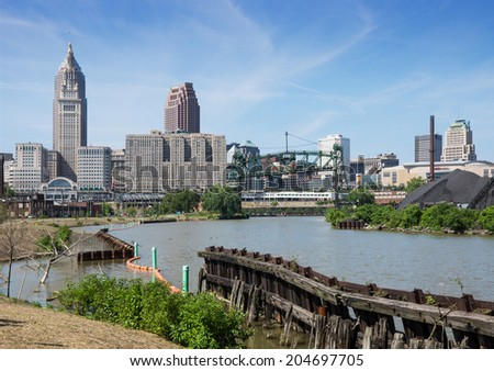 Cleveland ohio july 11 new scranton stock photo royalty free cleveland ohio july 11 the new scranton flats towpath trail recreation area offers publicscrutiny Gallery