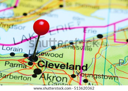 Cleveland Ohio Stock Images RoyaltyFree Images Vectors - Cleveland ohio usa map