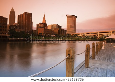 Cleveland seen with tobacco filter - stock photo