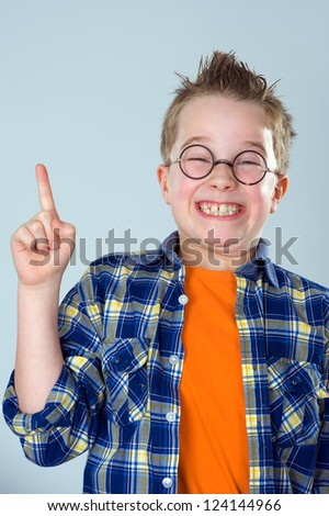 clever boy - stock photo