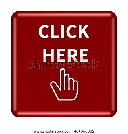 Click here icon. Internet button on white background. 3D illustration/3D rendering - stock photo