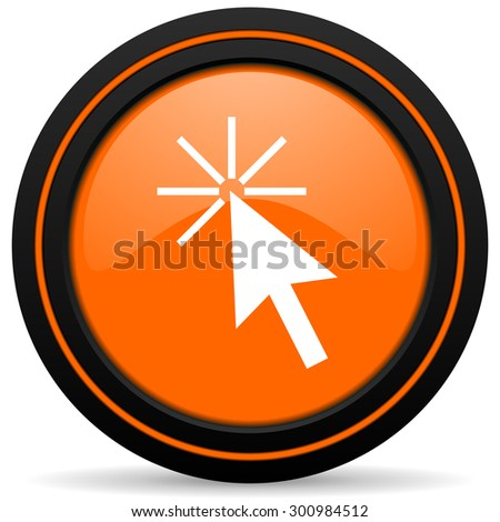 click here orange icon 