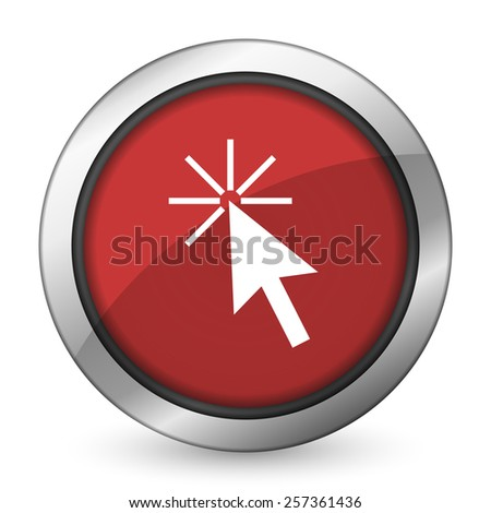 click here red icon