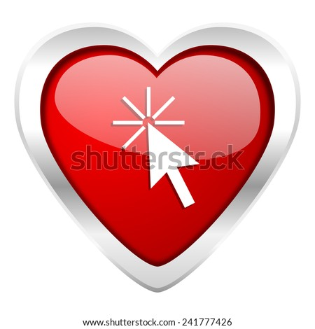 click here valentine icon   - stock photo