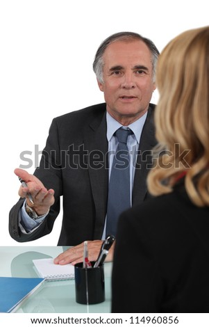 Client counselor - stock photo