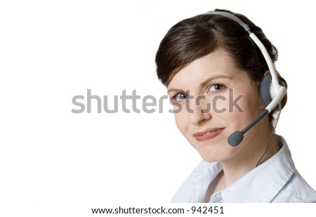 client services rep - very clear - stock photo