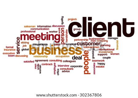 Client word cloud - stock photo