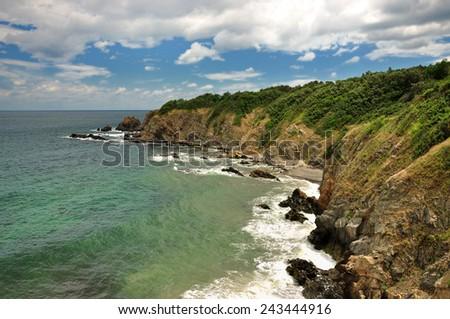 Cliff coast Black sea, Sozopol  - stock photo