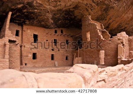 Cliff Dwellings at Mesa Verde, Colorado - stock photo