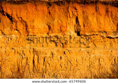 cliff of the brown clay - stock photo