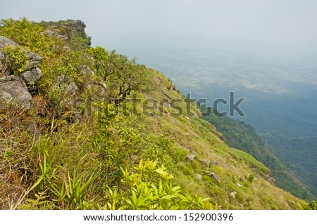 Cliff on Phu Luang Thailand - stock photo