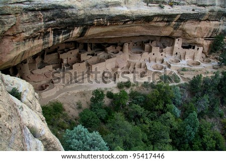 Cliff Palace in Mesa Verde National Park - stock photo