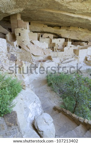Cliff Palace in Mesa Verde National Park, Colorado, United States - stock photo