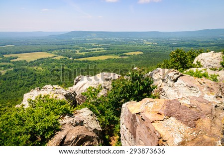 Cliff View of Petit Jean State Park - stock photo